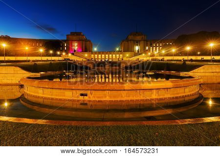 Fountains And Gardens Of The Trocadero In Paris