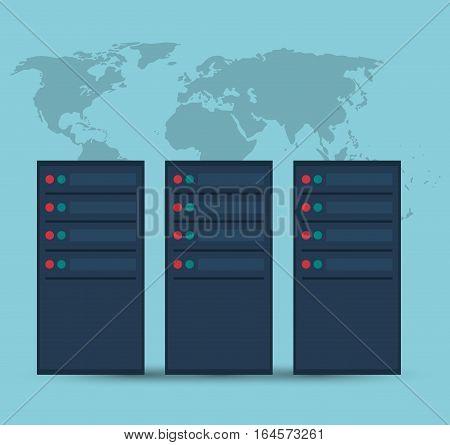 data center server device technology vector illustration eps 10