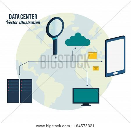 data center connection hardware network vector illustration eps 10