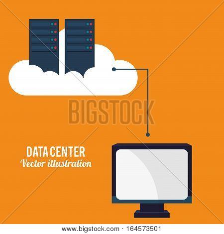 data center cloud computing technology vector illustration eps 10