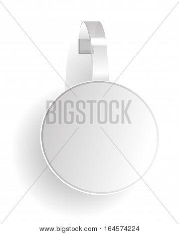illustration -  advertising wobbler. black and white .