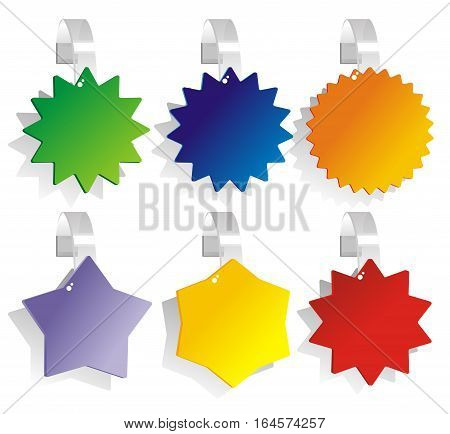 set promotional wobblers as a symbol of the multicolor