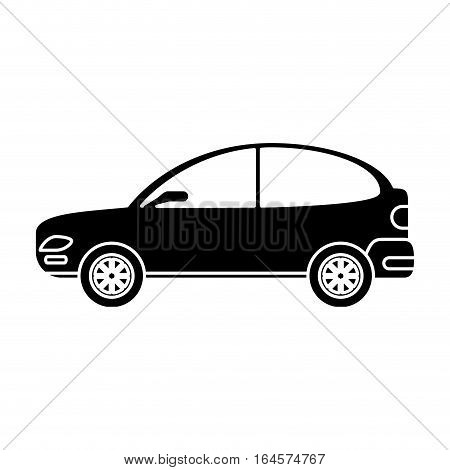 silhouette car coupe parking lot vector illustration eps 10