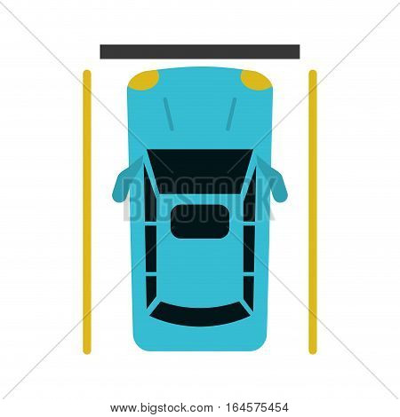 car parking top view vector illustration eps 10