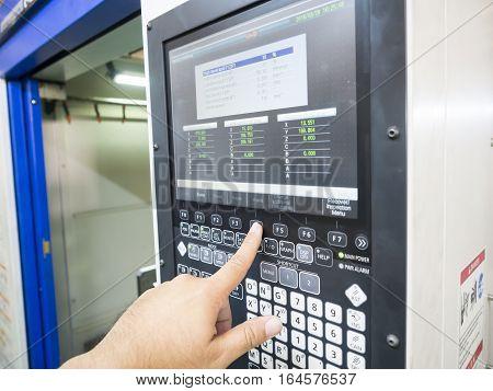 Cnc Machine Control Panel Input Program And Success