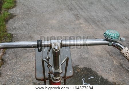 Bike Handle classic vintage in former beautiful with copy space for add text