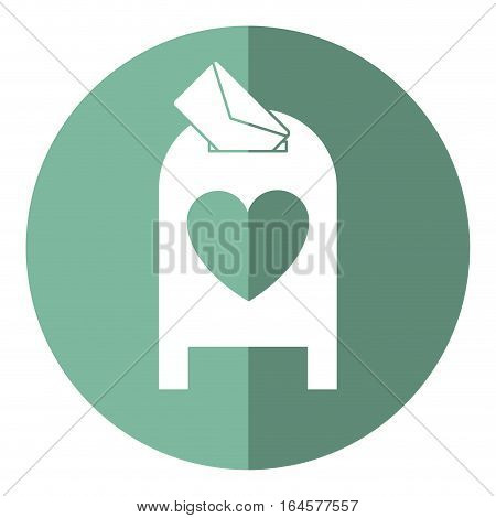 love mail post box message valentine shadow vector illsutration eps 10
