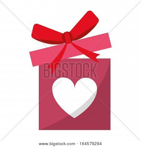 love gift box bow wrapped vector illustration eps 10