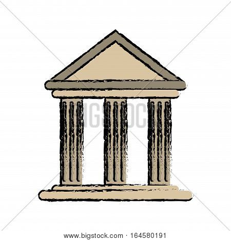 drawing building office bank structure vector illustration eps 10
