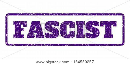 Indigo Blue rubber seal stamp with Fascist text. Vector tag inside rounded rectangular shape. Grunge design and dirty texture for watermark labels. Horisontal sign on a white background.