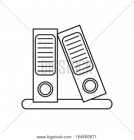 folder document archive folio office outline vector illustration eps 10