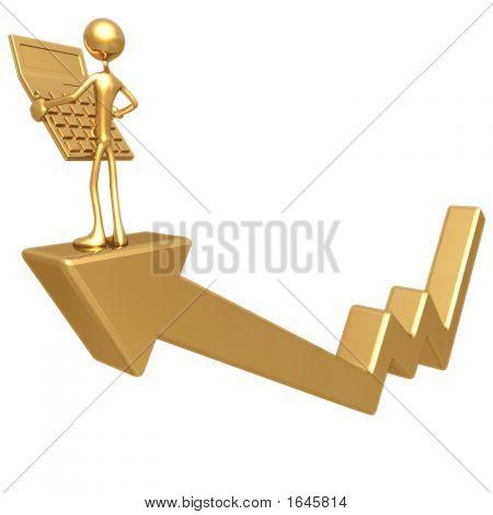 Accountant On Chart Arrow