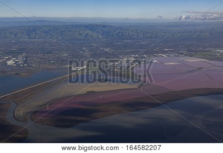 Special Colorful Salt Ponds Of Newark