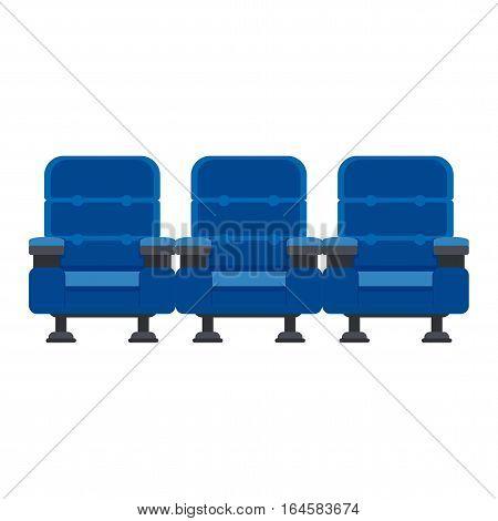 Three Blue Chairs