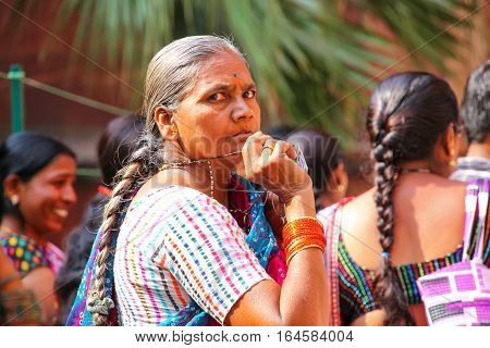 Agra, India - November 7: Unidentified Woman Visits Agra Fort On November 7, 2014 In Agra, India. Th