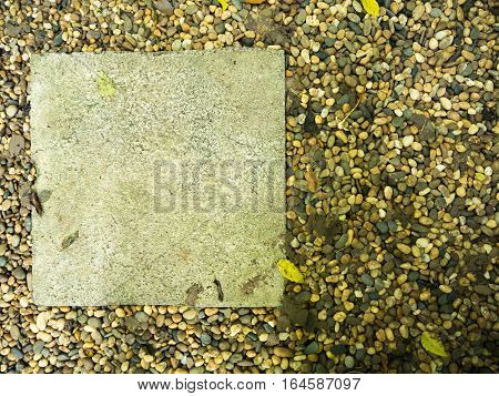 Many gravel and cement block background texture