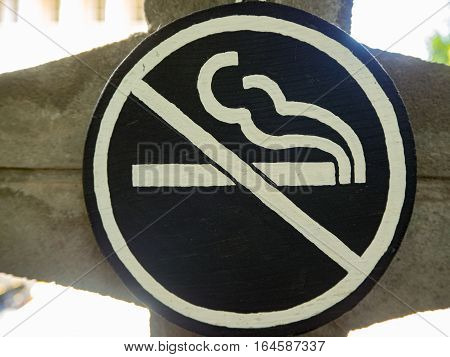 No smoking label in the natural park