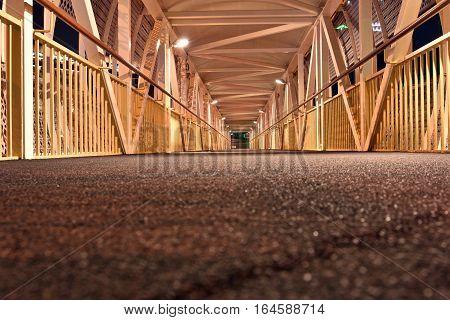 Inside Pedestrian Bridge on Dubai-Sharjah road, Dubai, United Arab Emirates