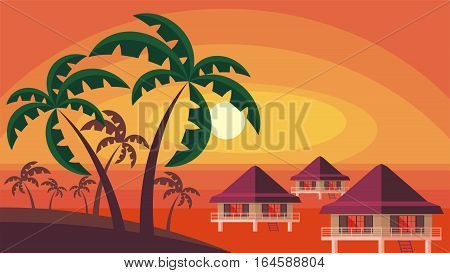 Sunset And Palm Trees.eps