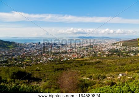 In South Africa  City Skyline From Mountain