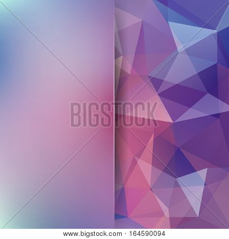 Background Of Pink, Purple Geometric Shapes. Blur Background With Glass. Colorful Mosaic Pattern. Ve