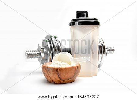 Whey Protein Taste Vanilla With Dumbbell