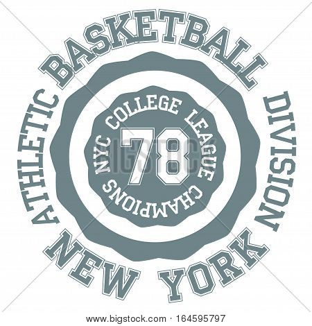 Basket ball typography, t-shirt new york - vector