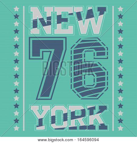 Fashion Typography Graphics. New York Sport T-shirt Design, vector illustration