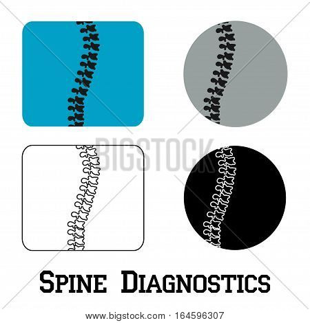 Spine diagnostics symbol design. Spine diagnostics center - vector