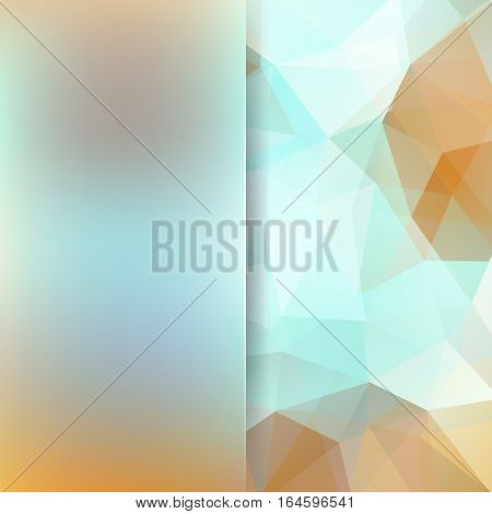 Abstract Background Consisting Of Blue, Beige, White Triangles. Geometric Design For Business Presen