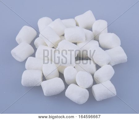 Marshmallows Or A Group Of Marshmallows On Background.