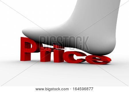 shoes crushes high cost white background 3D illustration