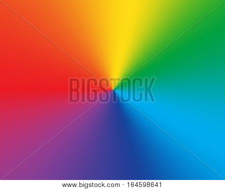 Radial gradient rainbow background. Vector illustration. Different colors