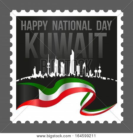Square Shape Kuwait National And Liberation Day Postage Stamp