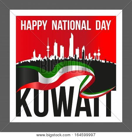 Square Shape Kuwait National And Liberation Day Poster