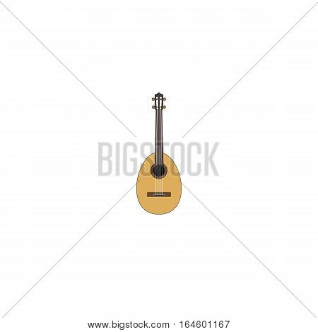 Vector illustration of mandolin isolated on a white background.