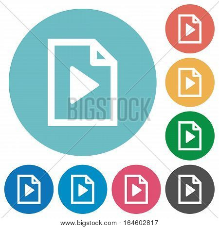 Playlist icons in color glass sphere buttons with shadows