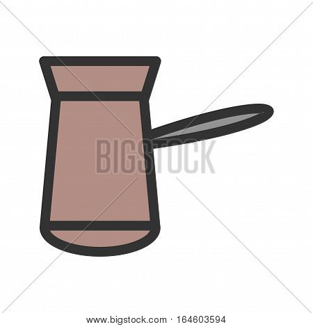 Coffee, cezve, pot icon vector image. Can also be used for coffee shop. Suitable for use on web apps, mobile apps and print media.