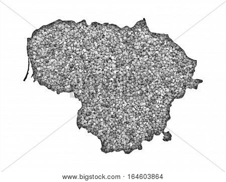 Map Of Lithuania On Poppy Seeds