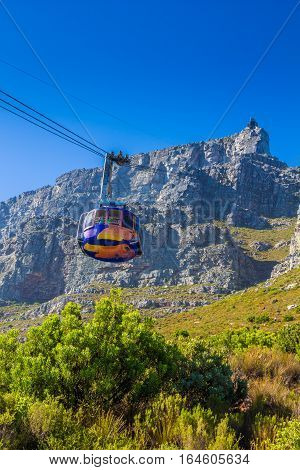 Cable way up to Table Mountain Cape Town South Africa