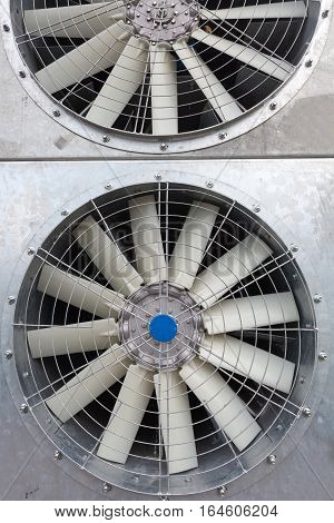 Brand new air conditioning system close up