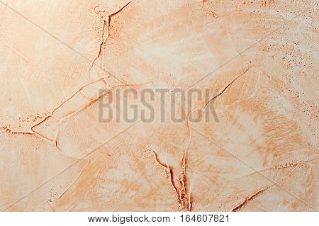 sienna color decorative stucco swabs textured background