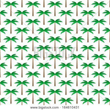 Palm trees seamless pattern background. Flat geometric style.