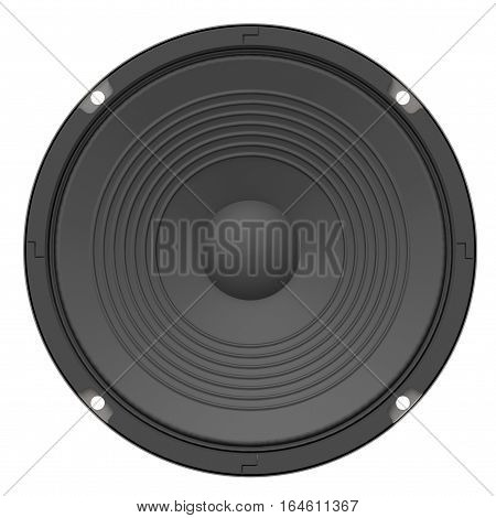Speaker isolated on white background 3D rendering