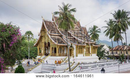 Luand Prabang, Laos - December 3, 2015: Royal Palace Museum of Luang Prabang city in Laos (The Royal Palace Museum)