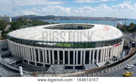 Istanbul, Turkey - September 25, 2016: Turkish football club Besiktas's new stadium Vodafone Arena