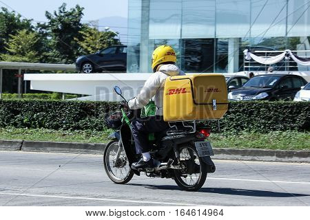 Dhl Express And Logistics Mini Container Motorcycle.