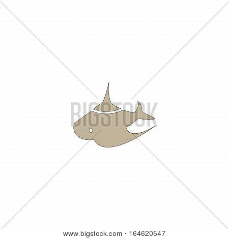 Ray logo vector illustration isolated on a white background.