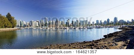 Marine Harbour Near Stanley Park In Vancouver