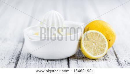 Fresh Made Lemon Juice On A Rustic Background